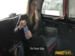 Beautiful young teen's destroyed tight ass by taxi dude
