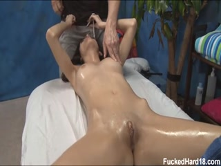 Fucked Hard Massage Oil Orgams for babe blonde