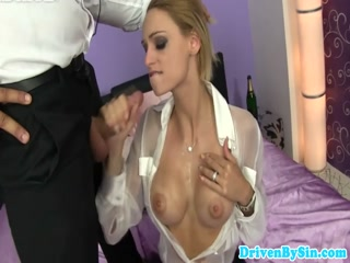 CIA Holey euro femdom gives an extreme sloppy bj - Porn hd Sex