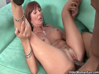 Big Bootu Blonde Milf With Stockings Rides Big Black Cock