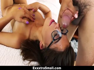 Teen Joseline gets her glasses creamed - HD Braze