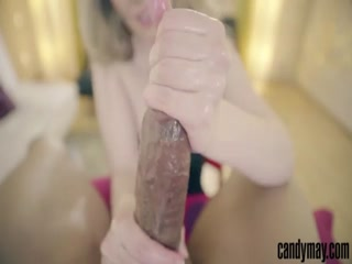 Candy May - Hot BBC handjob with artificial vagina