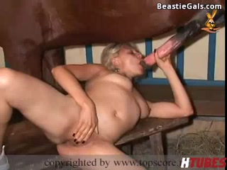 Horse porn Fucking With Blonde