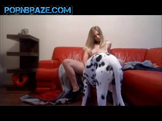 natural eighteen spreading her legs for animal - Animal Porn Free
