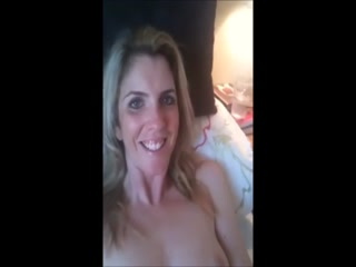 Horny Blonde MILF Bottle Fucks Herself