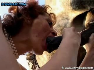Mature Lustful Cock suck outside