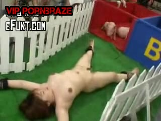 Japan Girl Rape By pig